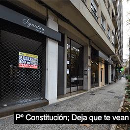 Local Comercial 500 metros en Paseo Constitución