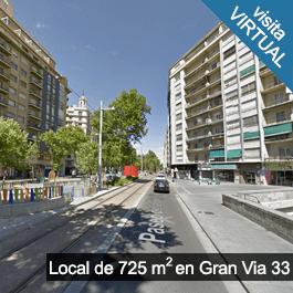 Local Comercial en venta de 725 metros en la Gran Vía de Zaragoza