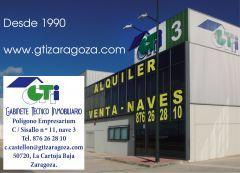 GTI Zaragoza: NAVE CON INSTALACIÓN ELÉCTRICA, ALUM
