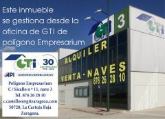 GTI Zaragoza: NAVE DE 250m2 INSTALADA CON PUENTE G